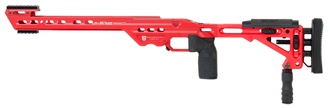 Masterpiece Arms BA Chassis Rem700 SA LH USMC Red