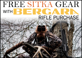 Free Sitka Gear with Bergara Rifle Purchase!