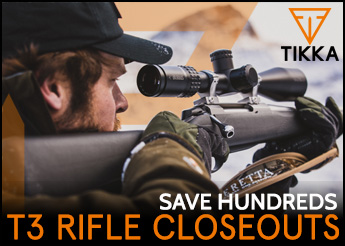 Tikka T3 Rifle Closeouts