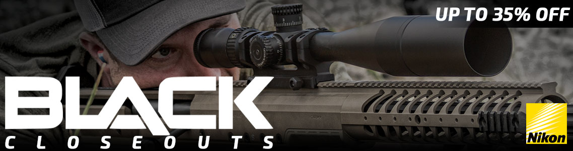 Nikon BLACK Riflescope Closeouts!