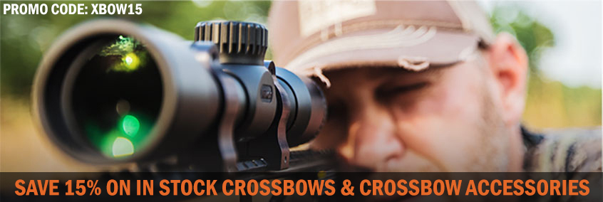 XBOW15 - 15% Off In-Stock Crossbows & Accessories!