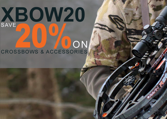 XBOW20 - 20% Off In-Stock Crossbows & Accessories!