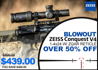 Zeiss Conquest V4 1-4x24 ZQAR - Only $439