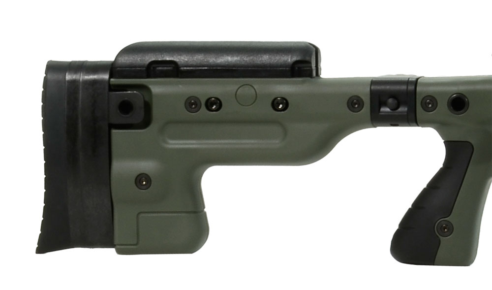 Accuracy International AT Rifle - Folding Green Stock - 308 Win 24 inch threaded bbl std brake - small firing pin