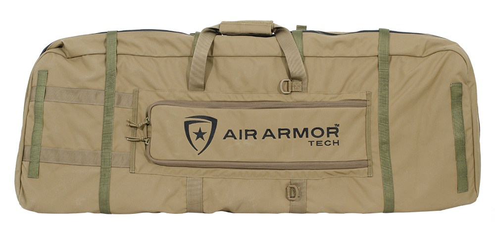 Air Armor Tech Inflatable Mid Length Gun Case Coyote w/OD Green Web AAT-SGC-A-C44-WR001-CYOD