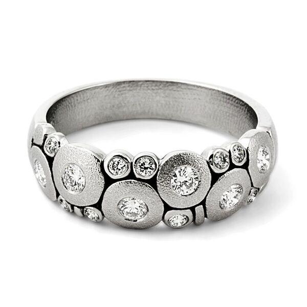 Alex Sepkus Platinum and Diamond Candy Ring