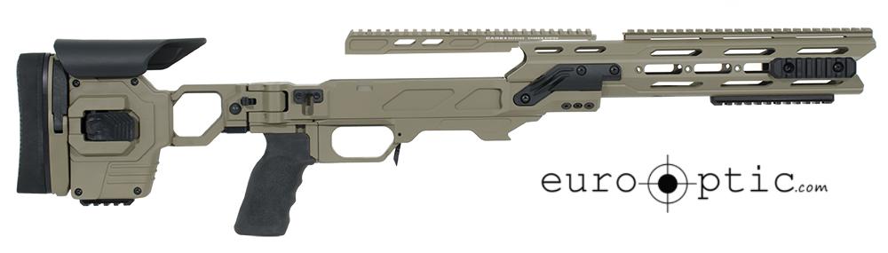 Cadex Dual Strike Sako TRG-42 LA .300 WM/.338 LM Hybrid Tan/Black Skeletonized Chassis SSTKDL-SKO-RH-XL