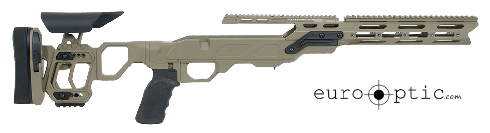 Cadex Field Tactical Chassis Hybrid Tan/Black with Skeleton Buttstock Tikka T3 LA STKFT-T3M-RH-LA