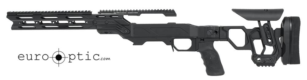 Cadex Lite Strike Chassis (for Remington 700) Long Action, Skeleton Buttstock,  20 MOA, sleeve SSSF 3.715, Top rail screws Black.  MPN STKLT-REM-RH-LA-BLK