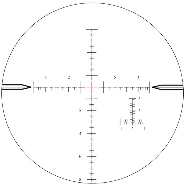 Nightforce SHV 4-14x50 F1 .1 MIL -illuminated Mil-R reticle C557