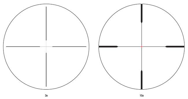 Trijicon TARS 3-15x50 Mil. Duplex Riflescope TARS104
