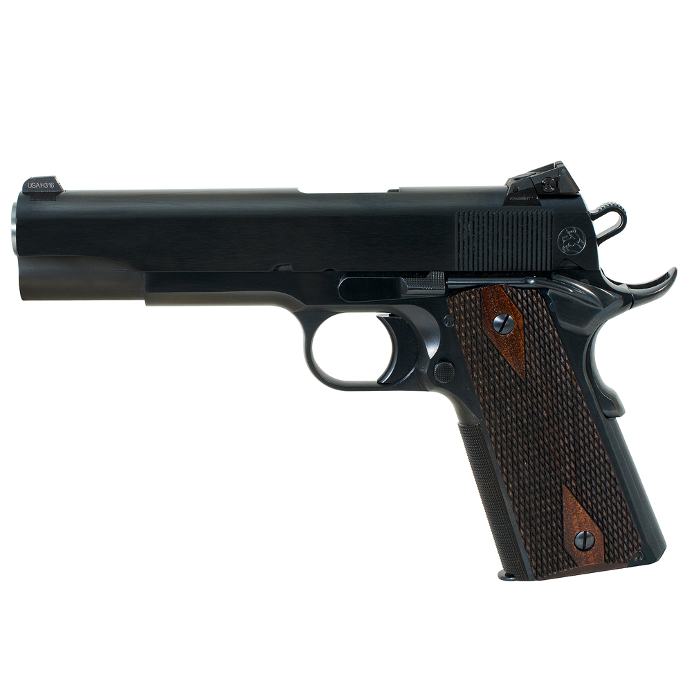Turnbull 1911 Checker, BT, SS Bull Barrel, Kensight (Blue) Goverment double diamond wood grips MPN TB-P3-G-B