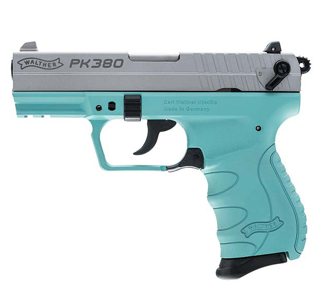 Walther PK380 .380 ACP Angel Blue 8 round MPN 5050325