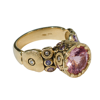 Alex Sepkus 18k And Sapphire Amp Diamond Quot Orchard Quot Ring