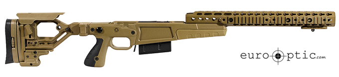 "Accuracy International AX AICS REM 700 LA .338 Lapua CIP 16"" Dark Earth Chassis 26714FD"