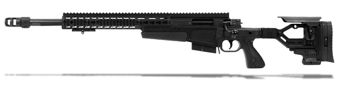 Accuracy International AX 308 Black chassis 20 inch barrel std brake with small firing pin - Left Hand A-XS308WNBL20SM-LH