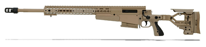Accuracy International AX 300 Pale Brown chassis 24 inch barrel std brake Left Hand A-XM300WMPB24SM-LH