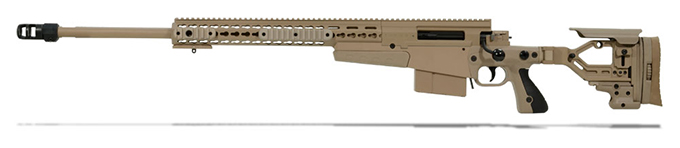 Accuracy International AX 300 Pale Brown chassis 26 inch barrel std brake - Left Hand A-XM300WMPB26SM-LH