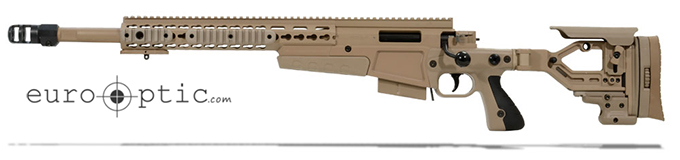 Accuracy International AX 300 Pale Brown chassis 20 inch barrel std brake Left Hand A-XM300WMPB20SM-LH