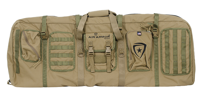 Air Armor Tech Inflatable Mid Length Gun Case Coyote w/OD Green Web AAT-SGC-A-C44-WR001-CYOD