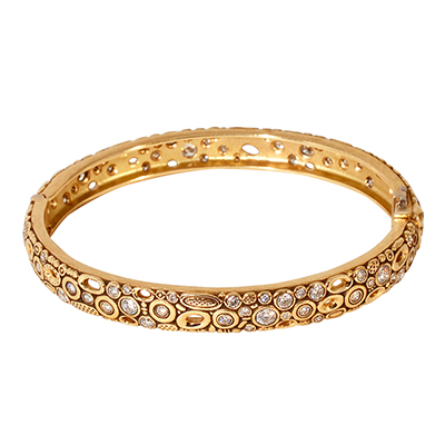 Alex Sepkus 18K and Diamond Bangle
