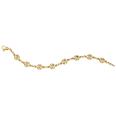 "Alex Sepkus 18K and Diamond ""Flora"" Bracelet"