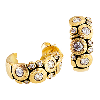 "Alex Sepkus 18K and Diamond ""Candy"" Earrings"