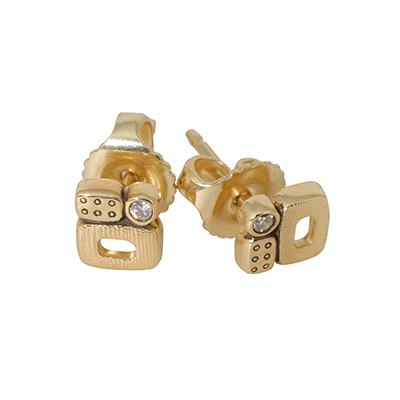 "Alex Sepkus 18K and Diamond ""Little Windows"" Earrings"
