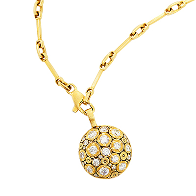 "Alex Sepkus 18K and Diamond ""Blooming Hill"" Pendant"