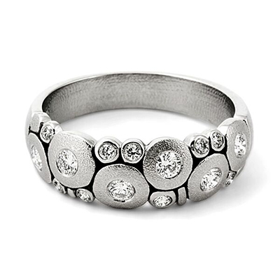 Alex Sepkus Platinum and Diamond Candy Ring