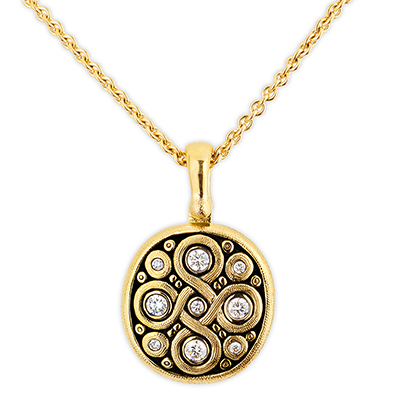 "Alex Sepkus 18K Diamond ""Celtic Spring"" Pendant"
