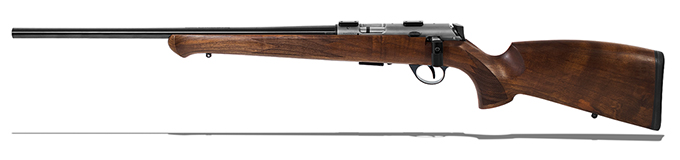 "Anschutz 1727L F Walnut German Stock, .17 HMR, 22"" Left - 013666"