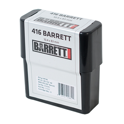 Barrett .416 Barret Ammo CEB 452 Gr MTAC Box of 80 17221