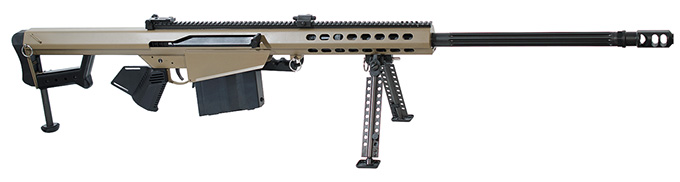 "Barrett Model 82A1 .416 Barrett Compliant Rifle System FDE Cerakote Receiver Non-Detach Mag., 29"" Fluted Barrel Showroom Demo 17463"