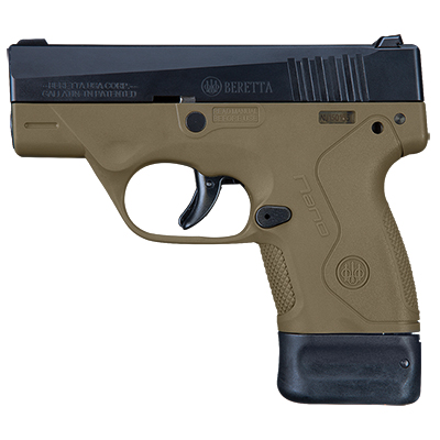 Beretta BU-9 Nano FDE 9mm Single 6+8rd Mag Pistol JMN9S55