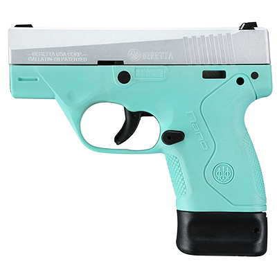 Beretta BU-9 Nano RE Blue Frame 9mm Single 6+8rd Mag Pistol JMN9S75