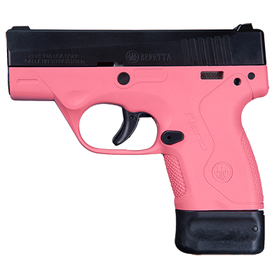 Beretta BU-9 Nano Rosa 9mm Single 6+8rd Mag Pistol JMN9S65
