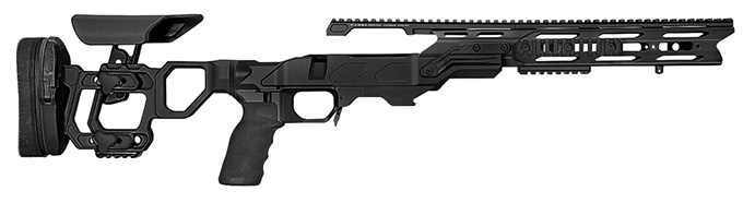 "Cadex Defense Field Tactical Black Rem 700 SA Skeleton Fixed 20 MOA for DSSF 3.055"" Chassis STKFT-REM-RH-SA-B-20-B-BLK"