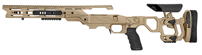 "Cadex Defense Field Tactical Tan Rem 700 SA LH Skeleton Fixed 20 MOA for DSSF 3.055"" Chassis STKFT-REM-LH-SA-B-20-B-TAN"