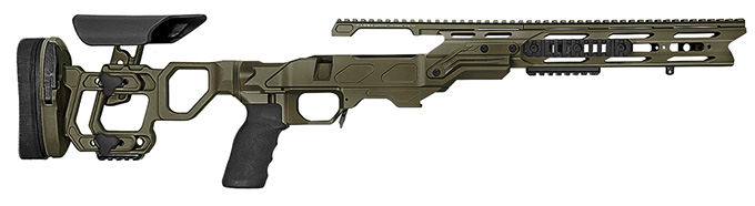 Cadex Defense Field Tactical OD Green Rem 700 M24 Skeleton Fixed 20 MOA #6-48 Chassis STKFT-M24-RH-LA-B-206-B-ODG