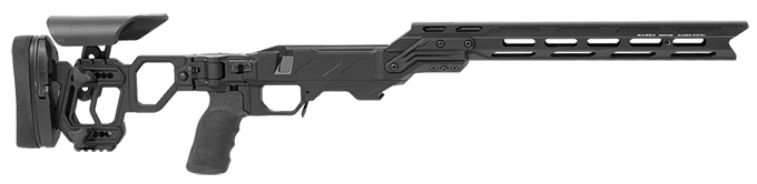 Cadex Lite Competition (for Remington 700) Short Action.  Folding Model. Black MPN STKLCP-REM-RH-SA-BL