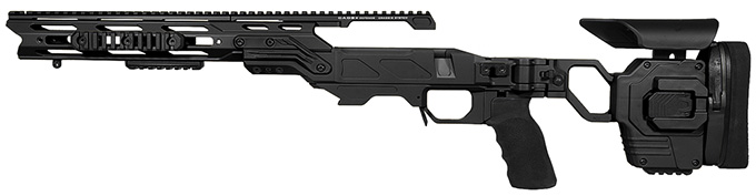 "Cadex Defense Lite Strike Black Rem 700 SA LH Standard Folding 20 MOA for DSSF 3.055"" Chassis STKLT-REM-LH-SA-R-20-B-BLK"