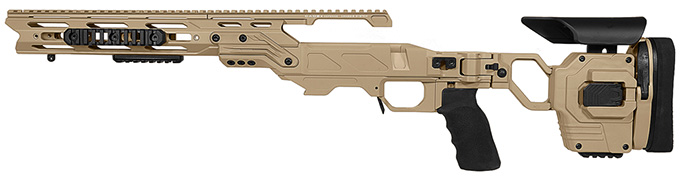"Cadex Defense Lite Strike Tan Rem 700 SA LH Standard Folding 20 MOA for DSSF 3.055"" Chassis STKLT-REM-LH-SA-R-20-B-TAN"