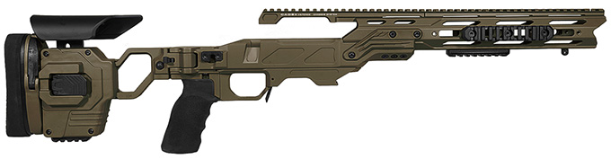 "Cadex Defense Lite Strike OD Green Rem 700 SA Standard Folding 20 MOA for DSSF 3.055"" Chassis STKLT-REM-RH-SA-R-20-B-ODG"