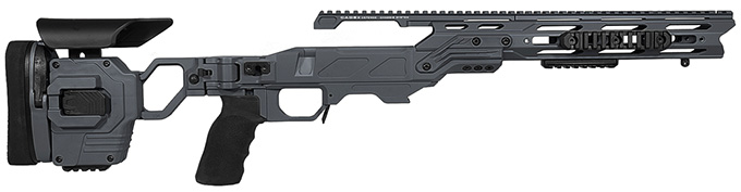 "Cadex Defense Lite Strike Sniper Grey Rem 700 SA Standard Folding 20 MOA for DSSF 3.055"" Chassis STKLT-REM-RH-SA-R-20-B-GRY"