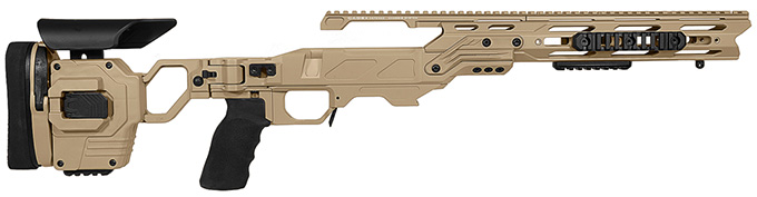 "Cadex Defense Lite Strike Tan Rem 700 SA Standard Folding 20 MOA for DSSF 3.055"" Chassis STKLT-REM-RH-SA-R-20-B-TAN"