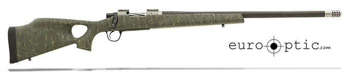 "Christensen Arms Summit Ti-TH .375 H&H 24"" Thumbhole Green W/Black And Tan Webbing Rifle CA10269-R14523"