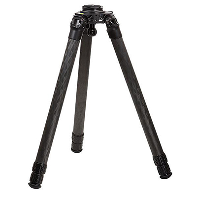 Crux Ordnance Carbon Fiber Tripod, 42 mm leg dia. 3 section with Leveling Bowl PMG-002