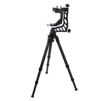 Crux Ordnance Adjustable Rifle Support/Rest and 34mm Tripod Kit w/Leveling Base & Scope Mount PMG-K03