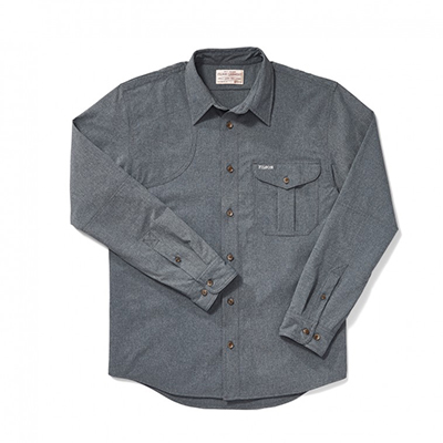 Filson Right Handed Shooting Shirt CarbonBlue M FCO-003994 FIL-10732-CarbonBlue-M|FIL-10732-CarbonBlue-M